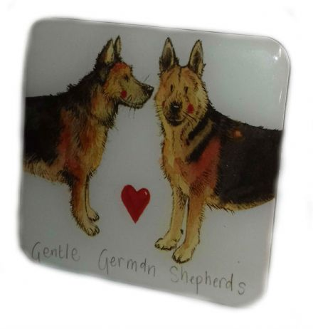 Gentle German Shepherds Fridge Magnet